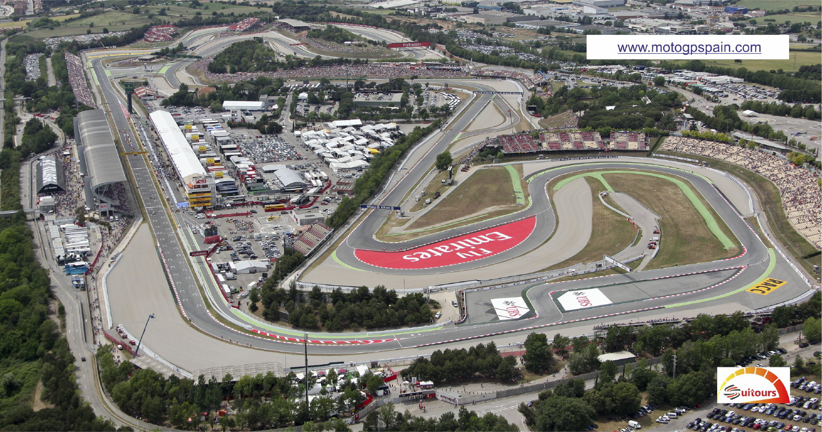 Bird's eye view of the Circuit de Barcelona-Catalunya